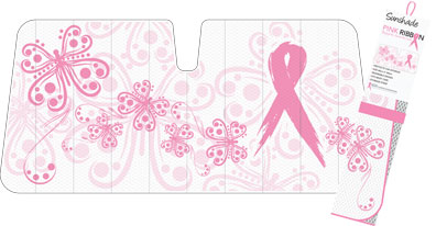 Sunshades Pink Ribbon Butterfly