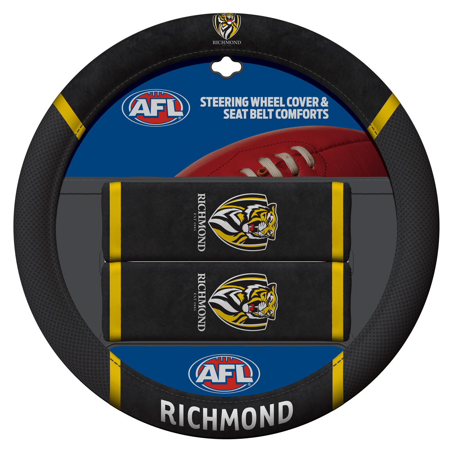 AFL Steering Wheel Covers Richmond Tigers